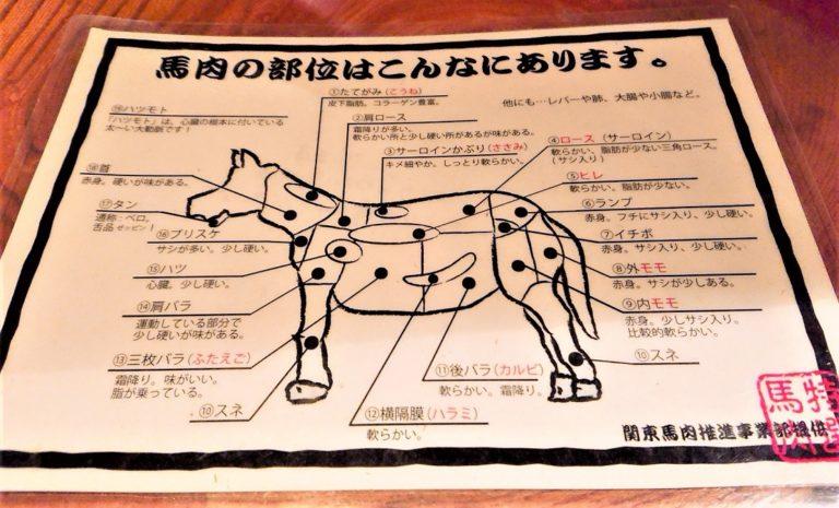 馬肉の部位